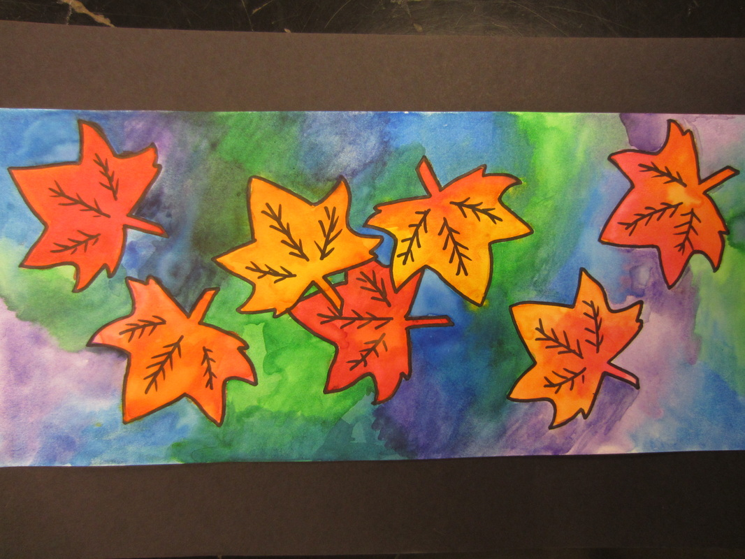 Warm & Cool Color Leaves - Art with Mrs. Peroddy