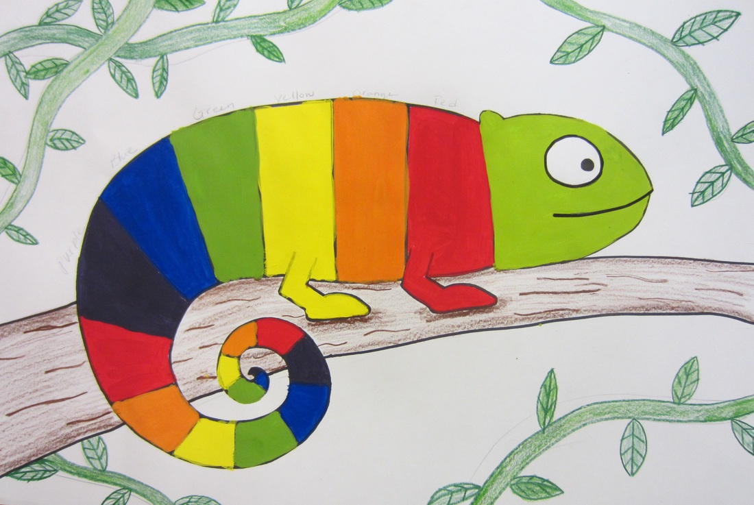 Color Wheel Chameleons